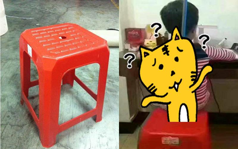 朋友分享「塑膠椅孔洞」的另類隱藏妙用,網友跪了:原來是這樣用!