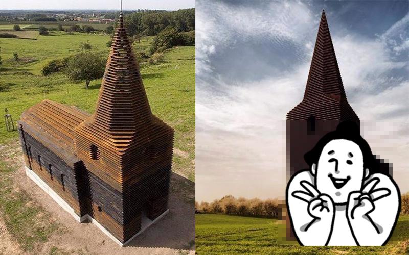 他上傳一張照「以為只是座普通的教堂」,直到換個角度才發現...根本神作!!