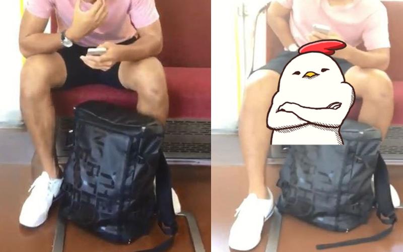 捷運上捕獲小鮮肉帥哥立馬偷拍,沒想到對方竟將手伸進褲子..:太刺激了!