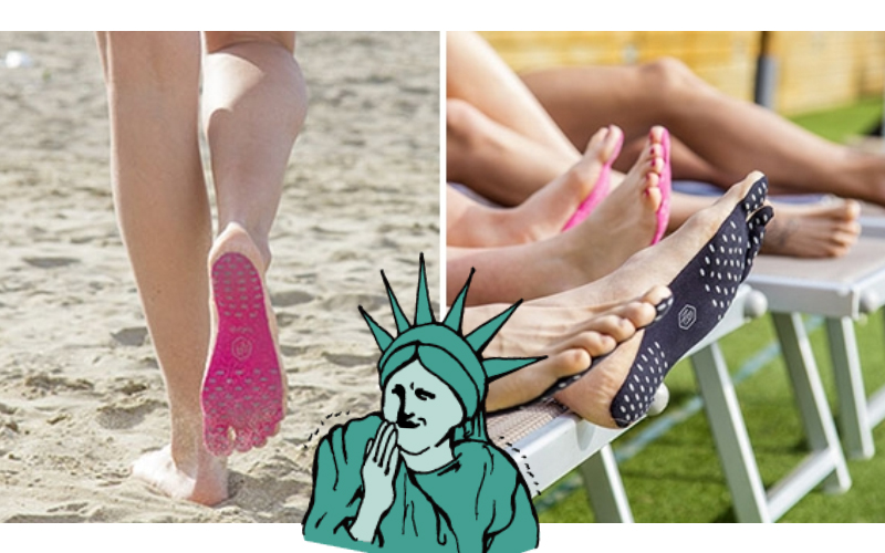 狂出新境界!這就是國外異常火爆的「隱形鞋」黏在腳底就能走!網友:踩到大便怎麼辦?