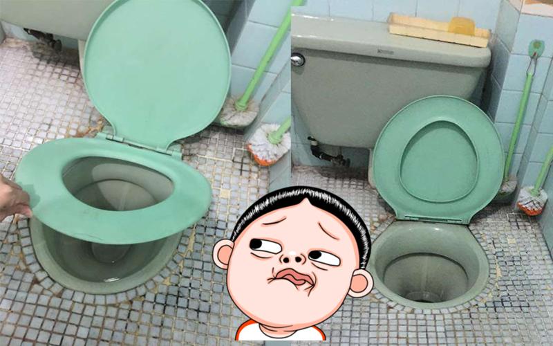 打開廁所的門後驚見「來自新世界的馬桶」,前所未見的神奇設計讓大家都在想這到底是「蹲廁」還是「坐廁」?