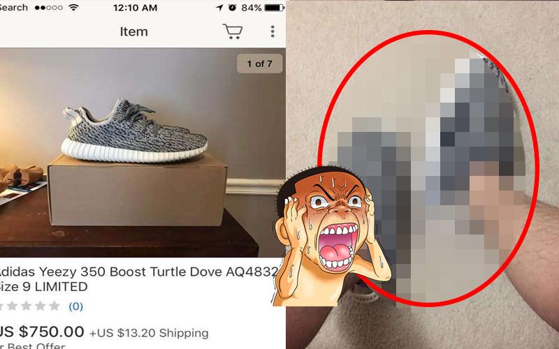 花了2萬網購限量潮鞋「Yeezy」以為賺到了,結果收到貨時....欲哭無淚!