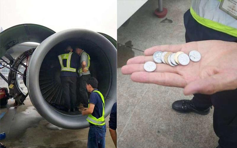 強國老婦為了祈福「竟然把硬幣扔進飛機引擎」,接著造成的後果讓旅客都怒炸了!:你以為這是許願池?
