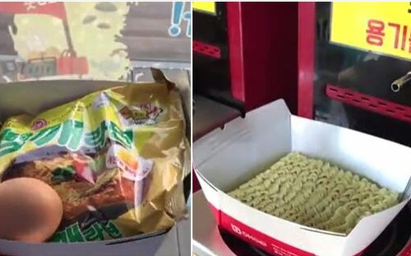好餓啊!韓國超商推出「自助泡麵機」神器,三分鐘搞定還可以加蛋:口水都滴下來了(影)