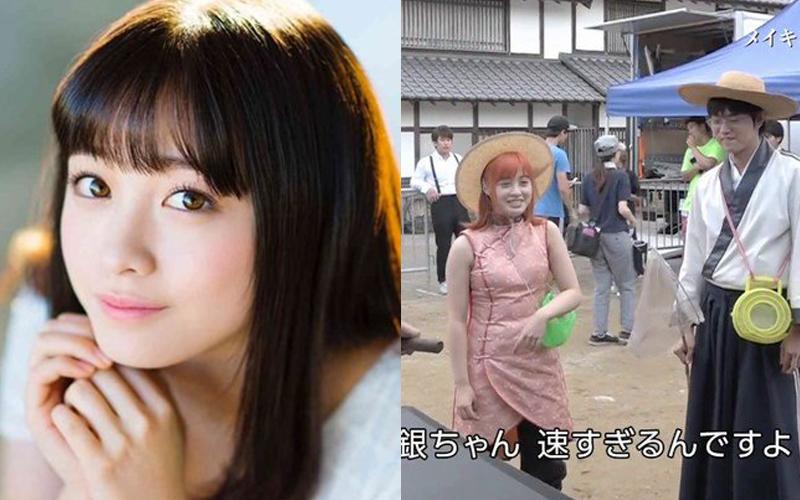 橋本環奈持續劣化中!?日本網友將「銀魂」劇照與「它」對比崩潰:橋本減肥啊!