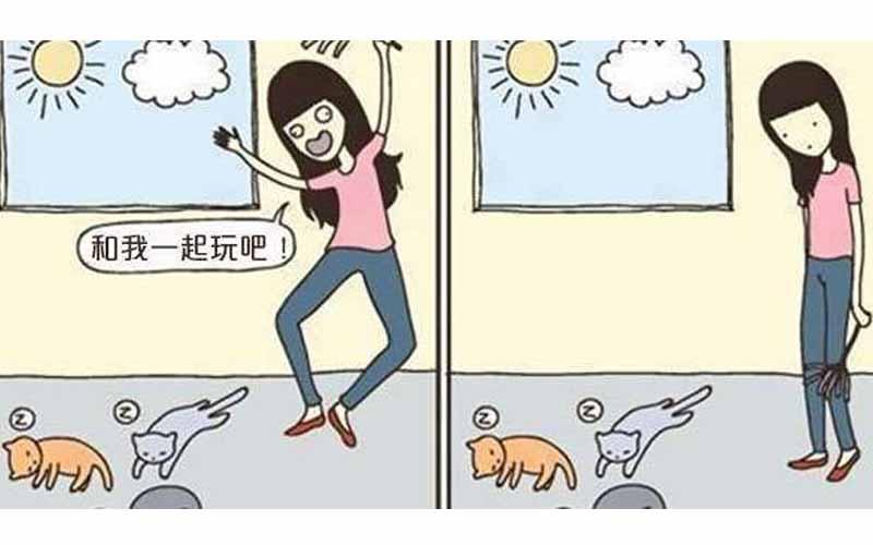 50個讓人類永遠無法理解的「貓咪思維」希望這些漫畫可以幫助你理解小貓們的邏輯!