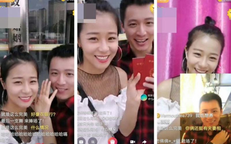 中國女直播主拒絕跟男粉絲視訊,但一收到對方的「9萬」大禮她竟然失控馬上跟對方閃婚!