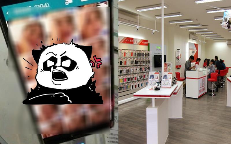 一名網友在手機店裡試用展示台上新機的相機功能,沒想到打開相簿後看到這超狂畫面...:硬了!