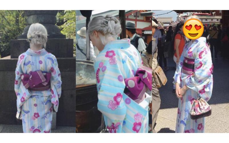 這組「銀白髮和服正妹照」日本瘋傳,被網友神出「逆天顏值」無可挑剔!