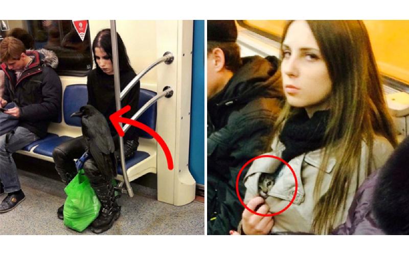 20位那些年乘客們在「地鐵上目睹過最獵奇」的怪人!