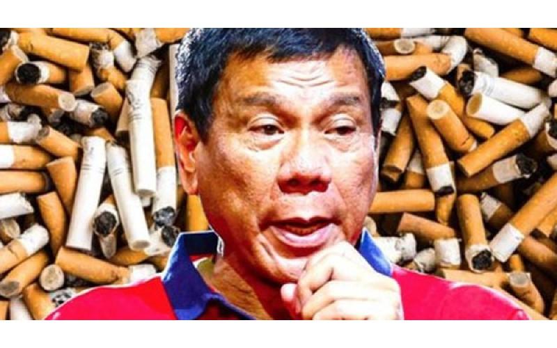 菲律賓總統正式下令「全國禁菸」上路,違者將會被杜特蒂送進牢房!