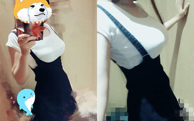 炫耀文無誤!妹子試穿吊帶裙卻抱怨「爆乳」讓他超困擾:吊帶硬被擠到兩邊!