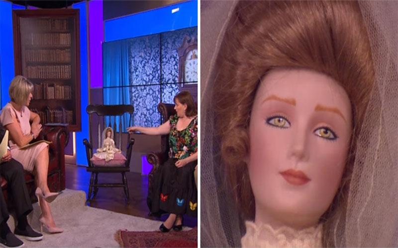 她二手店購入的娃娃「抓傷丈夫」,帶上節目「坐著的搖搖椅突然晃動」...全場嚇傻!(圖+影)