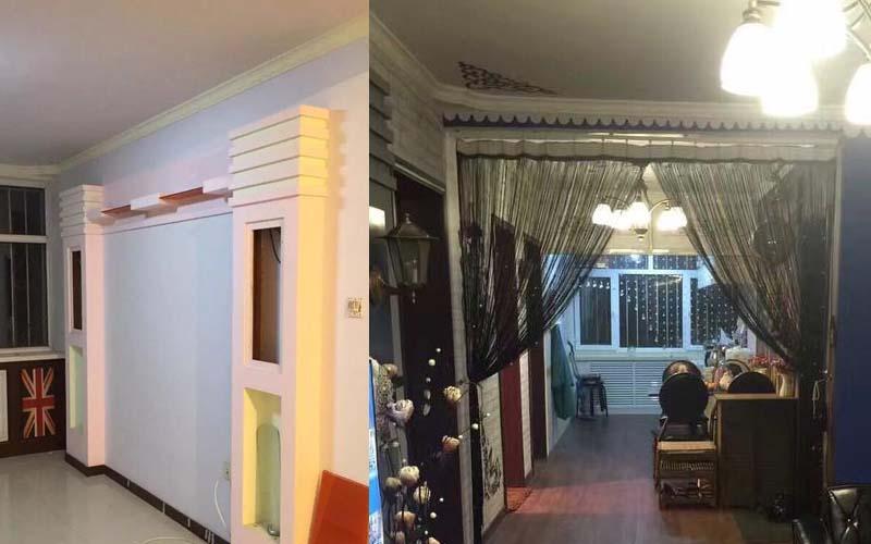 老公心血來潮自己整修了新買的房子,沒想到成品竟被說像「靈堂」,老婆PO網求助!