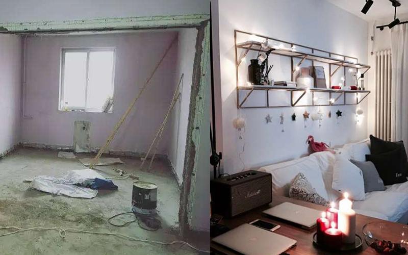 小資夫妻把13坪老公寓改造成「嶄新豪宅」,「獨立衣帽間+100格超酷鞋架」讓人超想立刻入住!