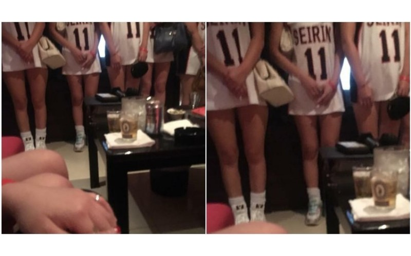 到酒店消費「酒店妹一排開站」, 網友卻眼尖發現球衣妹中有「亮點」:看得好鼻酸!