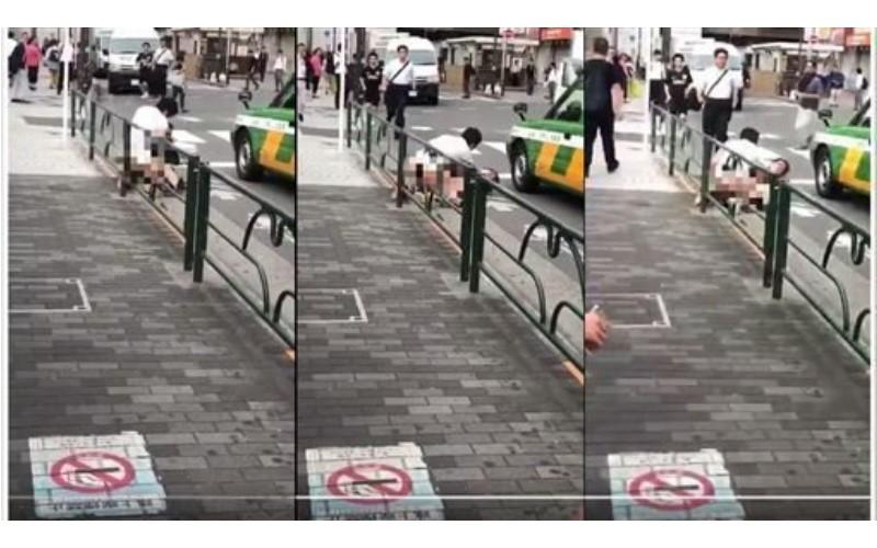 脫了就上?中國男子在東京「當街裸下身」光天化日性侵女子!事發影片曝光...網:看傻了