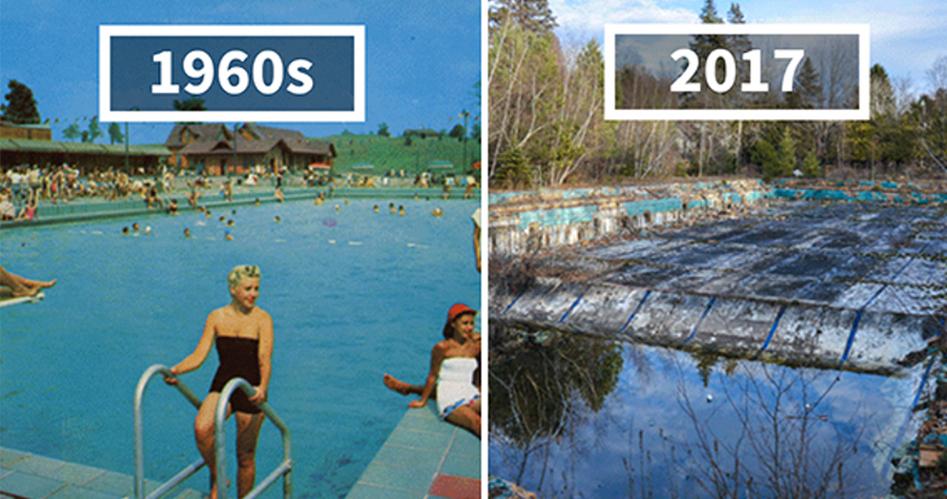 他回到「1960年明信片上超美的地方」看看變怎樣了,結果慘不忍睹的畫面讓大家都只能嘆息...