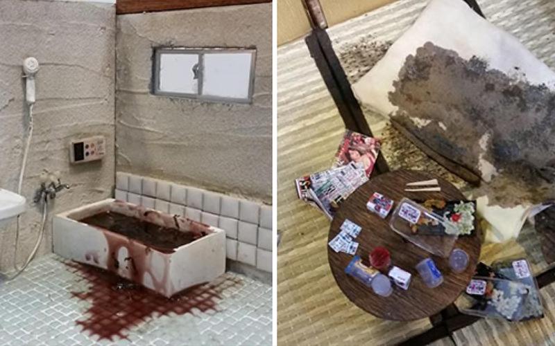 日本處理「孤獨死」現場清潔人員把看到的畫面做成模型,第二張圖片就開始讓人一陣鼻酸...