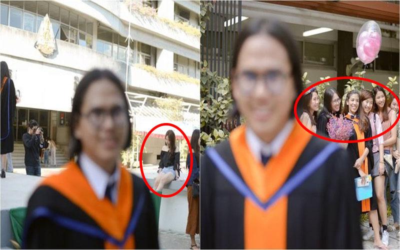 超悲劇!男大生請來攝影師幫拍畢業照,沒想到重點全在「後方正妹」:攝影師很會!XD
