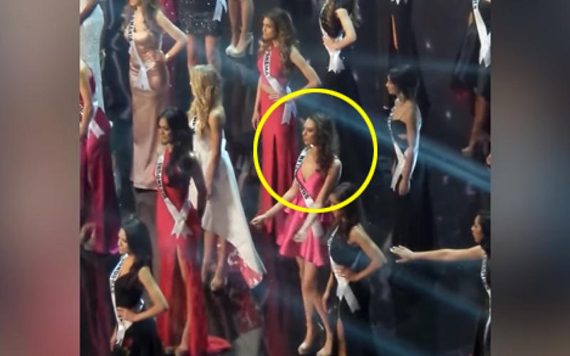 荷蘭小姐在嚴肅的選美比賽上突然「被戳中舞癮」,全力搖擺的模樣讓對手和觀眾都忍不住笑了!(影)