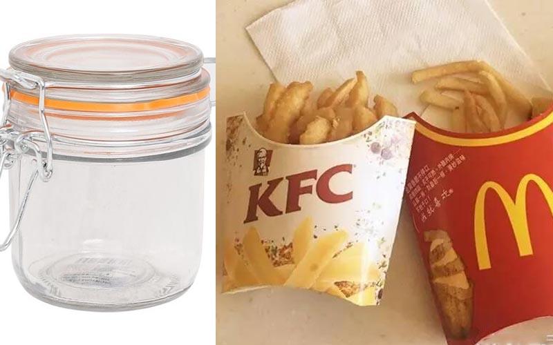 網友實測「麥當勞&肯德基薯條」在密封罐裡放三年後,會有甚麼現象產生?!