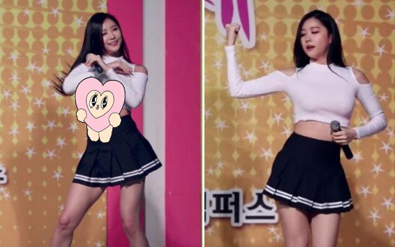 韓國女團熱舞上衣捲到胸部上.... 巨乳穿幫露出「一片肉色」淡定繼續跳(圖+影)