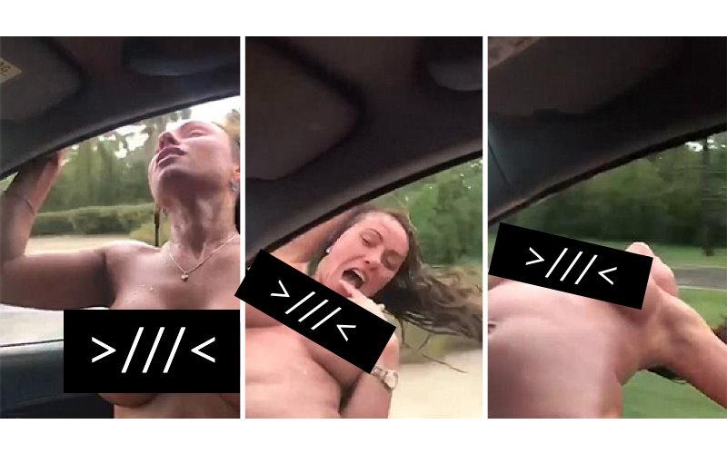 戰鬥民族女遊客嗨過頭!裸上身伸出車窗外拍攝影片,下一秒卻成為她的「死亡實錄」!(圖+影)