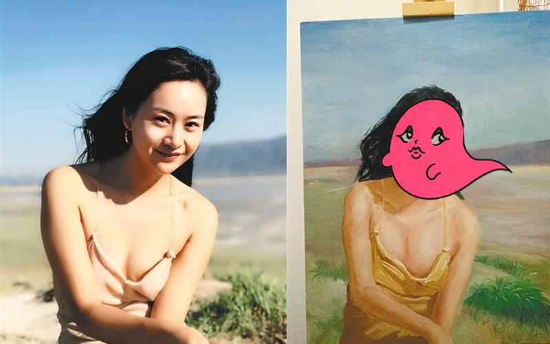 22歲正妹「高價定制自畫像」,慶生收到成品大傻眼!網友:只有胸部的部分很像...