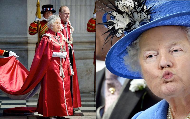當川普的臉P到英國女王臉上 ...一秒變身「傲嬌小公主」讓網友全笑翻:毫無違和感!