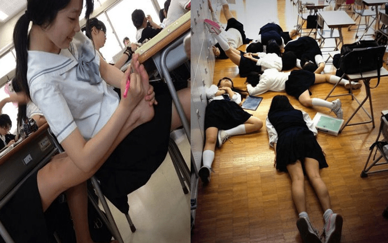 日本女高中生的日常校園生活。