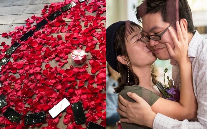 工程師霸氣買了25支iPhoneX向女友求婚!女友點頭後,現場閨蜜一人送一隻!