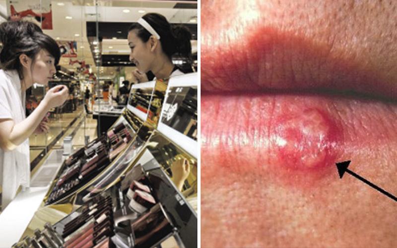 專家警告「不要隨便試用店裡的化妝試用品」,已經有一名女子因此染上性病!最嚴重還可能癱瘓!