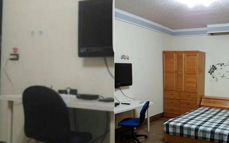 他在591租屋網想找房,點開房間照片卻讓他抖了一大下!網友:毛毛der~