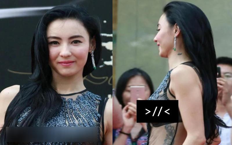 張柏芝身穿「透視裝」出席活動,網友:沒有老公管著的女人就是不一樣!