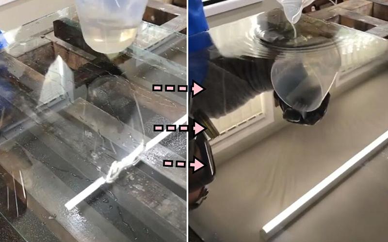 鏡子是怎麼做出來的?「一杯水」倒下去...玻璃秒變鏡子!超神奇製作過程大公開(影)