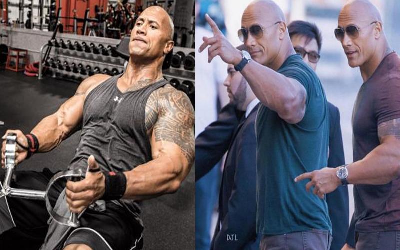 巨石強森的替身演員不僅擁有一樣的大肌肌,戴上墨鏡簡直就是雙胞胎!