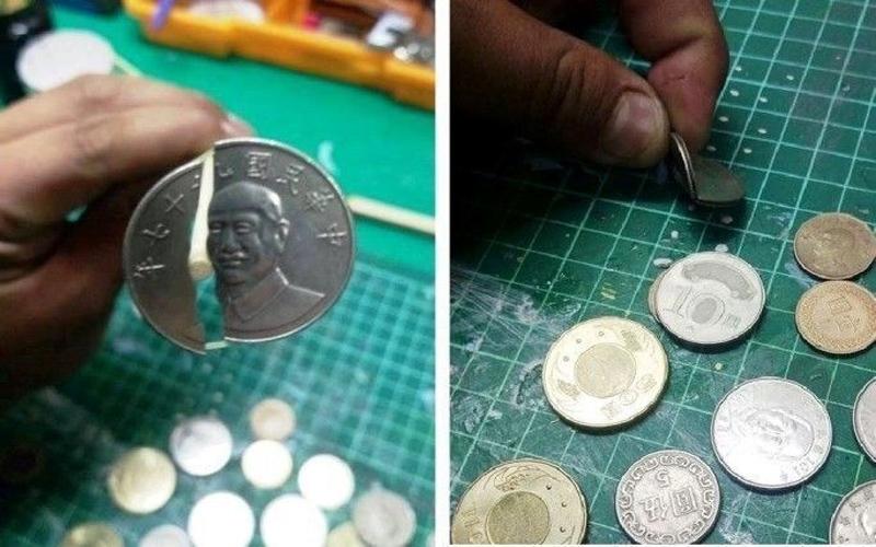 逛夜市找錢拿到一枚「裂開的10元硬幣」超傻眼,內行網友看了卻說:你賺到了!