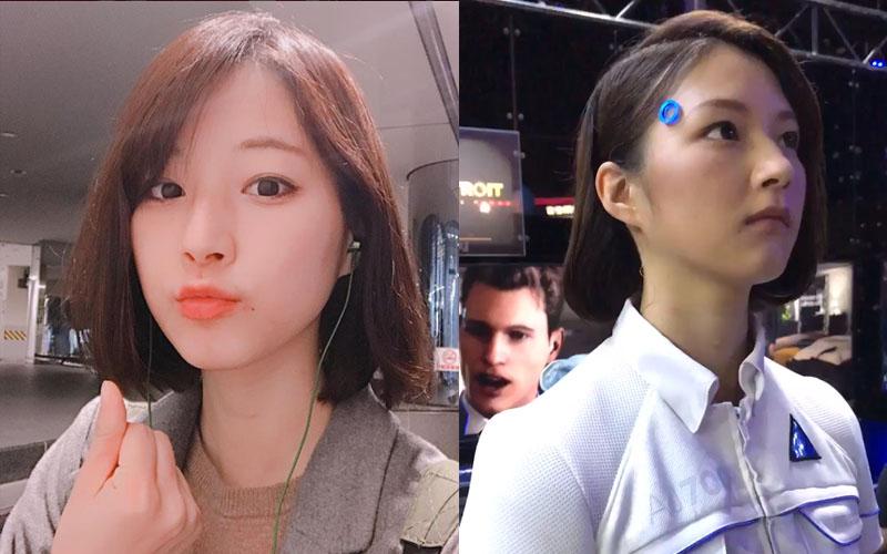 網友神到了!東京電玩展超逼真「正妹機器人」原來就是她?微笑超甜讓人一秒就戀愛!