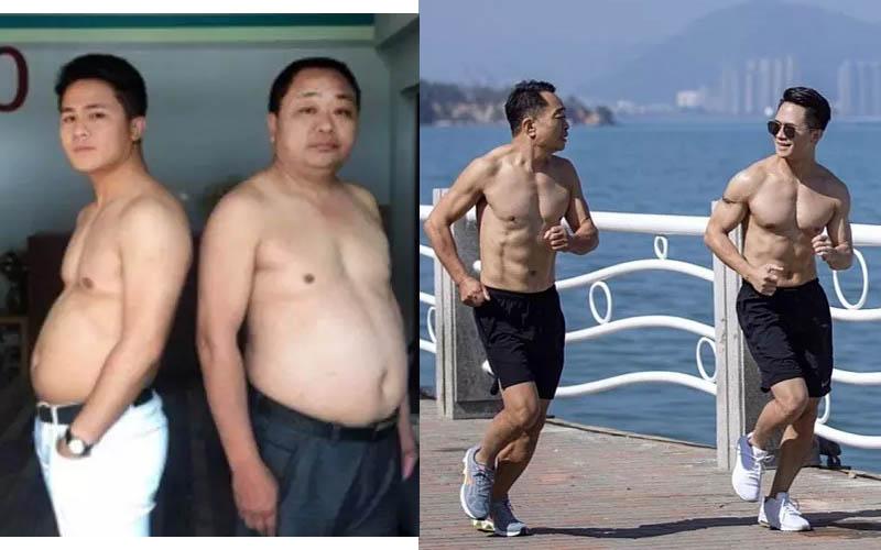 當肉圓父子變成天菜父子!蛻變過程整個大公開!有六塊腹肌帥慘了!