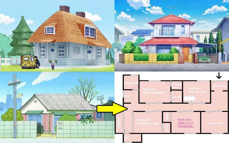 你可以認出這些是哪個動漫人物的家嗎?原來他們家的格局是有精心設計過的!