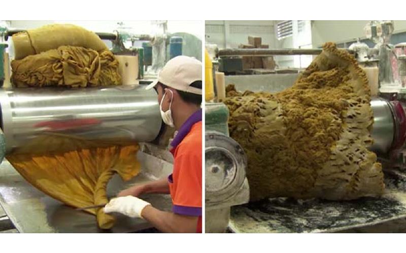 橡皮筋製作過程大公開「像搓麵粉一樣」畫面超紓壓!忍不住又按重播