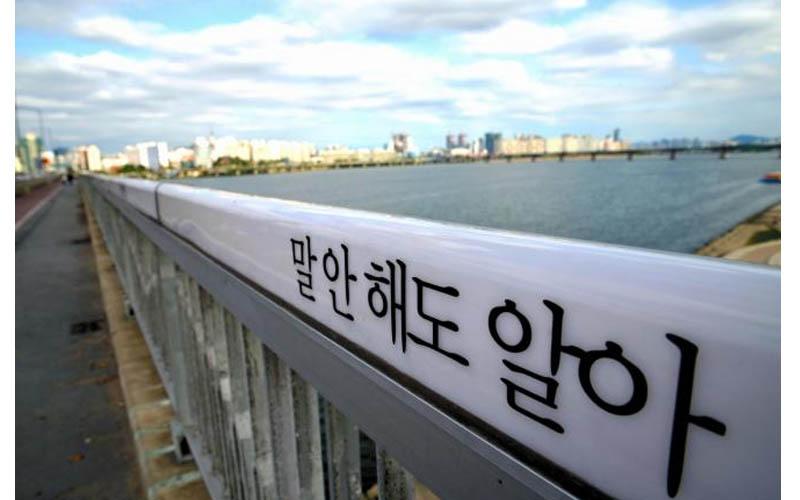 韓國的自殺大橋「改建成溫馨勵志風,自殺人數竟然還暴增6倍」根本就是這些標語逼死人!