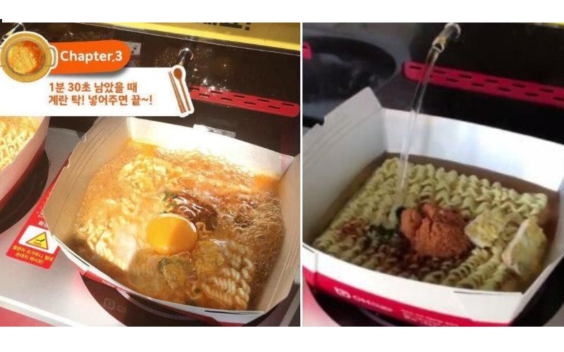 不用再羨慕韓國...超狂「全自動化」自助煮泡麵機要來台灣了!