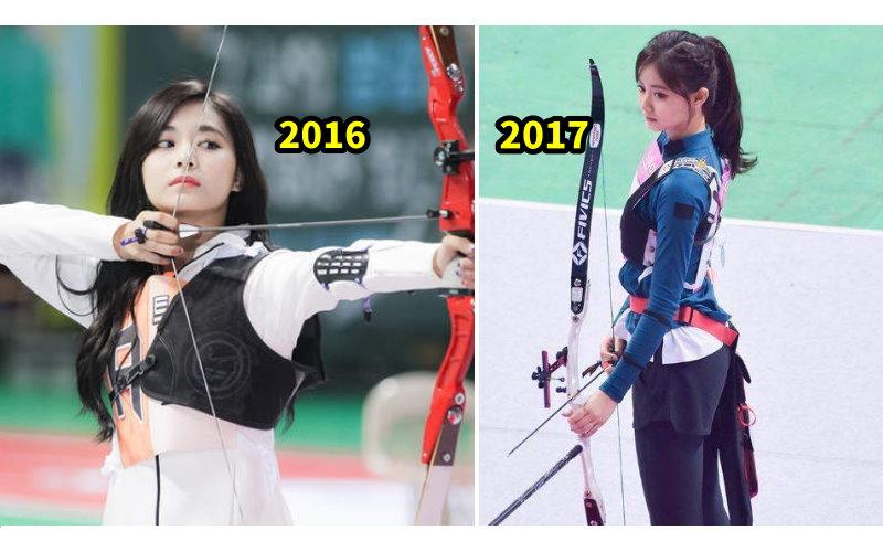 還記得去年子瑜射箭照嗎?2018年子瑜再次拿起弓…「射箭美照」讓韓網又暴動!