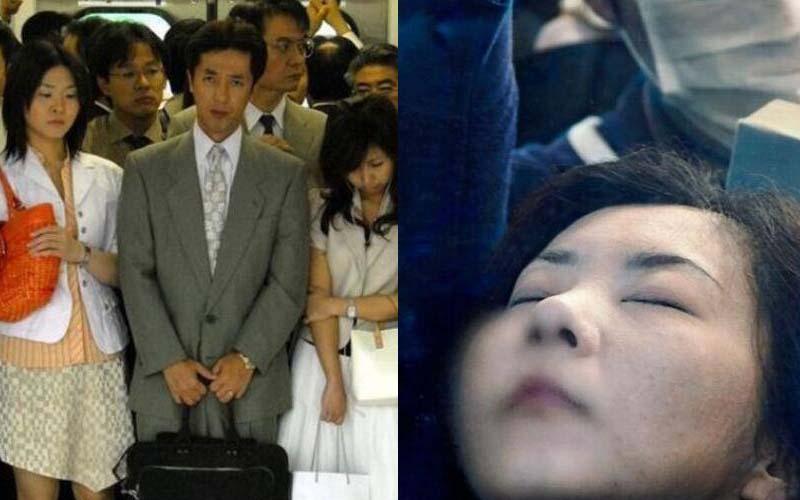 帶您直擊日本電車在尖峰時期能有多塞!夏天女孩穿得少,也得被迫肢體碰觸了!