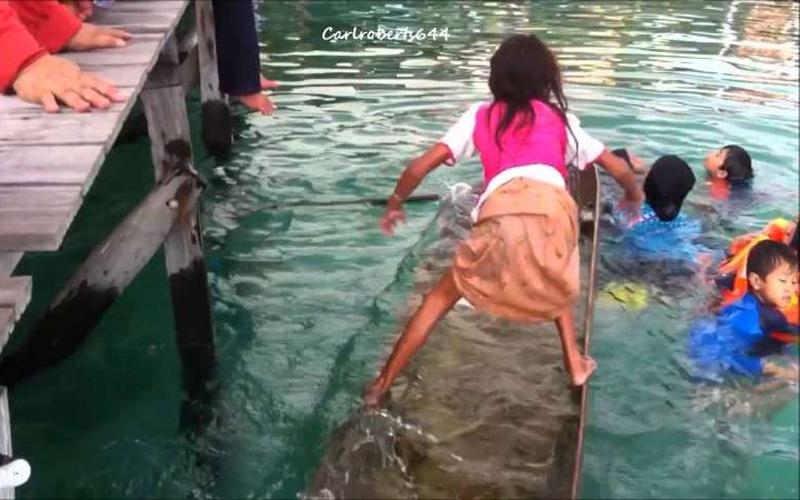 看見「船在下沉」女孩靠著「自學特技」神奇的救了那艘船!