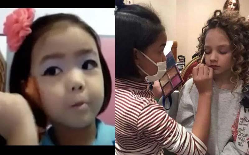她3歲時化濃妝影片被大家罵翻,現在11歲的她化妝技術成為「倫敦時裝周」的焦點!