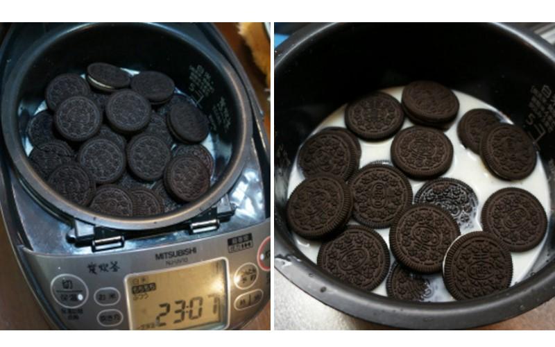 日本網友突發奇想將Oreo餅乾和米放進電鍋內煮,網友跟著試做後推爆這樣新甜點!