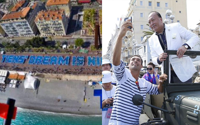 霸氣老闆砸11億「帶6400名員工遊法國」!破金氏紀錄排出「最大規模人體排字」羨煞眾網友!